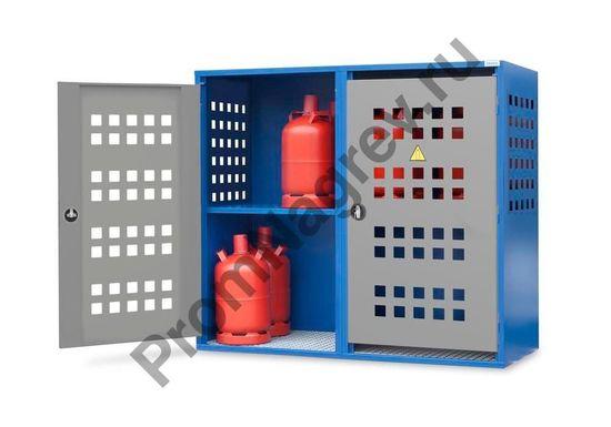 Шкаф для газовых баллонов LB 8, для 8 баллонов по 33 кг или 20 баллонов по 11 кг, 2-створчатая дверь