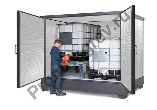 Изолированный обогреваемый контейнер для хранения опасных веществ