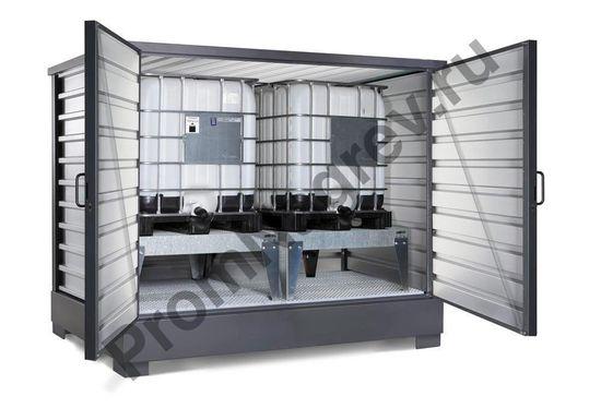 Контейнер для хранения ЛВЖ и водоопасных веществ для 2 IBC по 1000 литров