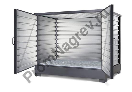 Контейнер для хранения ЛВЖ и водоопасных веществ, оцинкованный, для 8 бочек по 200 литров