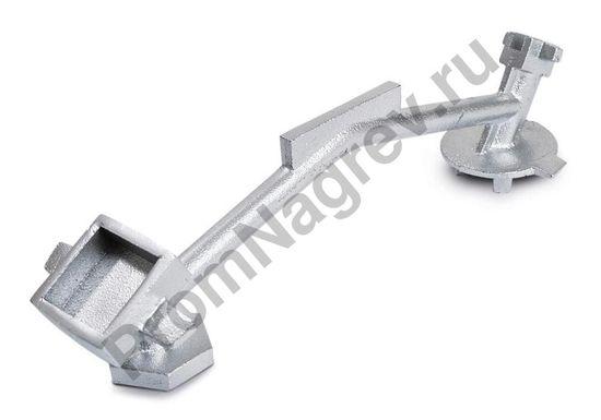 Многоцелевой бочковый ключ из чугуна, окрашенный