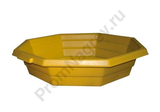 Поддон для предотвращения протечек с практичным сливным носиком, встроенным держателем для крышек или пробок, объём 80 литров