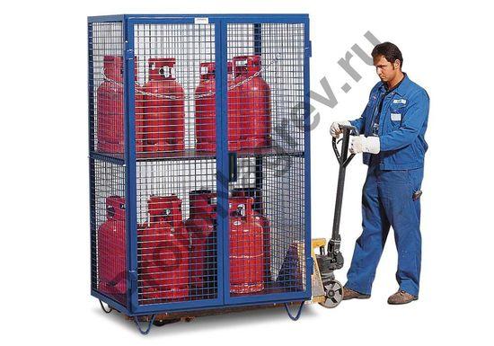 Мобильный шкаф для газовых баллонов GF 8.19 для 6 баллонов по 33 кг или 8 баллонов по 11 кг