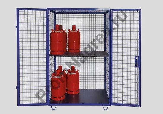 Мобильный шкаф для газовых баллонов