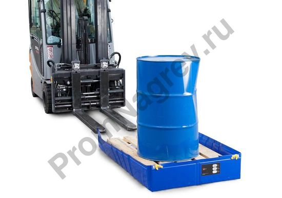 Складной поддон для локализации проливов подходит для работы с бочкой до 200 литров или любой мелкой тарой