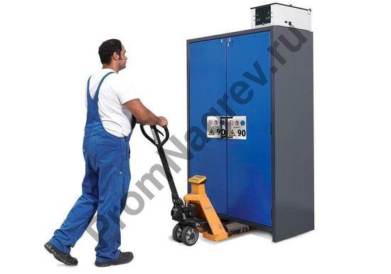 Транспортировка огнестойких шкафов спецтехникой.