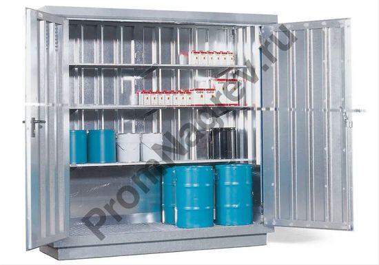 Маленький оцинкованный контейнер со входом, который можно дооснастить полочками