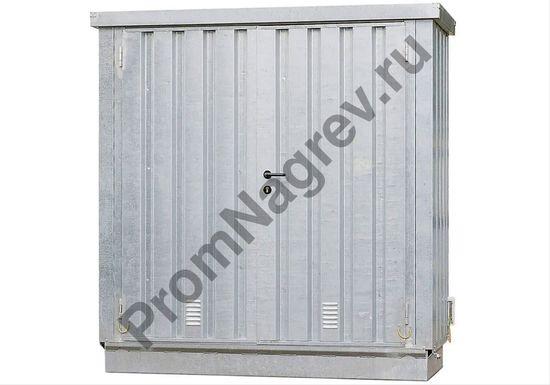 Маленький оцинкованный контейнер для опасных веществ в закрытом виде
