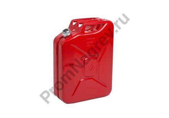Канистра из стали, с завинчивающейся крышкой, красная, объём 20 литров