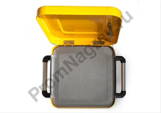 Ёмкость стальная для промывки мелких деталей, окрашенная, с решёткой для погружения, 8 литров
