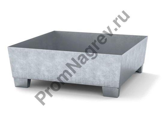 Оцинкованный поддон под автозагрузчик без решетки, прочный сточный поддон из стали