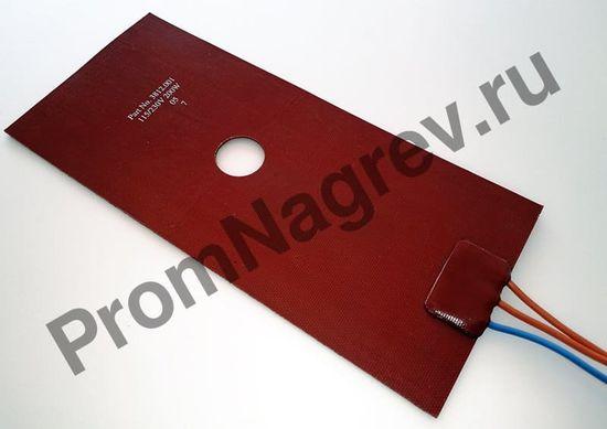 Силиконовая нагревательная пластина гибкая 90x200 мм, 200 Вт/230 В, провод 250 мм