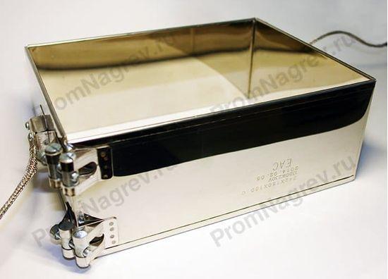 Миканитовый рамочный нагреватель из 2-х нагревательных элементов, крепление - болты