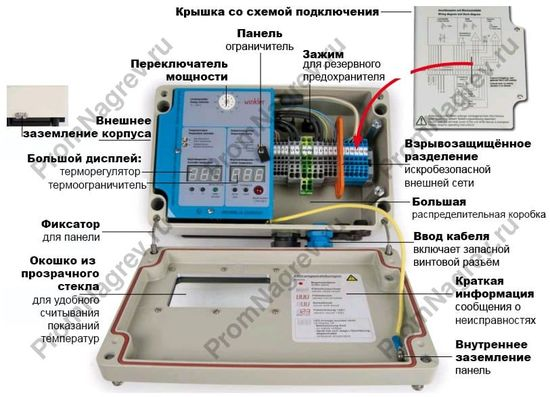 регулятор температуры, взрывозащищённое исполнение