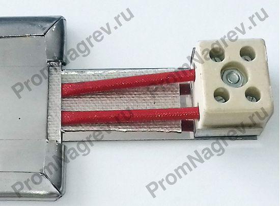 Плоский нагреватель 450 Вт, электроподключение клеммная колодка на выносной планке