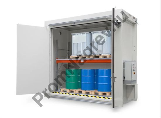 Контейнер для ЛВЖ с полочкой, все степени допуска, для хранения бочек и контейнеров