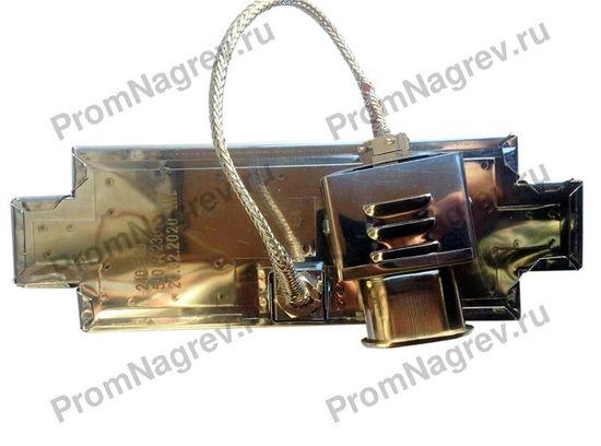 Плоский миканитовый тэн в корпусе из нержавеющей стали 240x80 мм, 500 Вт, 230 В, термостойкий провод на коробе