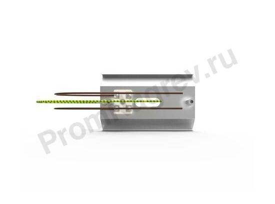 Вид сбоку рефлектора RAS 0,5 для керамических нагревателей 100x60x160 мм