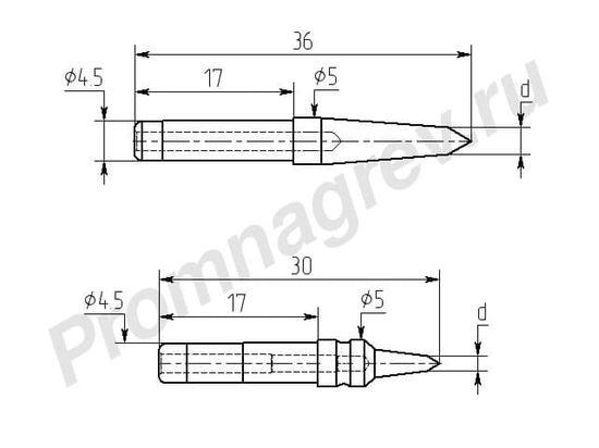 Клиновидные износостойкие паяльные насадки M20И-DA для паяльной станции Ц20-И