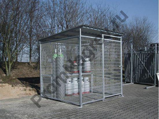Складской контейнер для хранения газовых баллонов 40/20, вместимость до 72 баллонов по 33 кг
