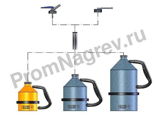 Ёмкость Falcon для безопасного хранения горючих и агрессивных жидкостей, 1 литр