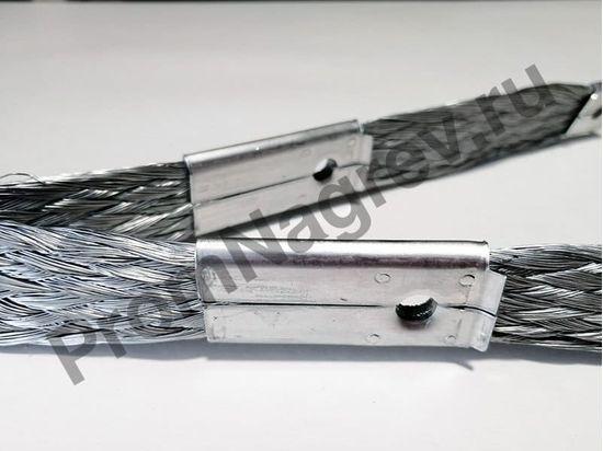 Коннектор электрический для двух карбидокремниевых нагревателей с двойной лентой