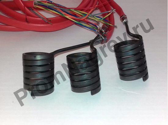 Нагреватель спиральный Hotcoil 2,2*4,2 мм; 230 В/400 Вт; термопара J; навит на диаметр 25 мм, длину 30 мм