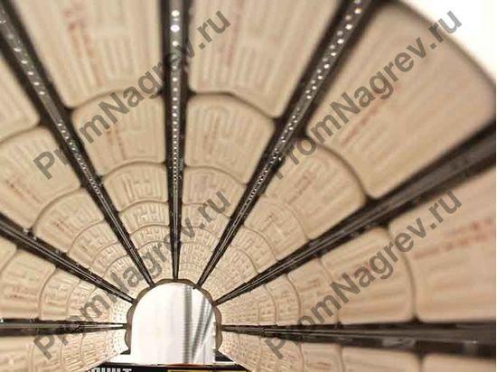 Инфракрасная панель для предварительного нагрева формуемых пластиковых труб