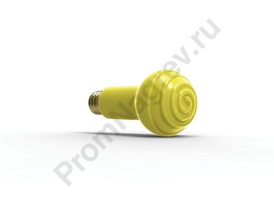 Лампа для террариума, 60 Вт, диаметр 65 мм, жёлтая