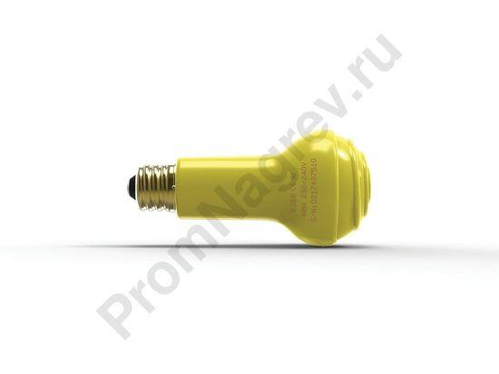 Тепловая лампа для рептилий 100 Вт, диаметр 65 мм, жёлтая