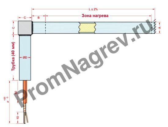 Отвод с угловым блоком диаметром от 6,5 до 25 мм, тип T9