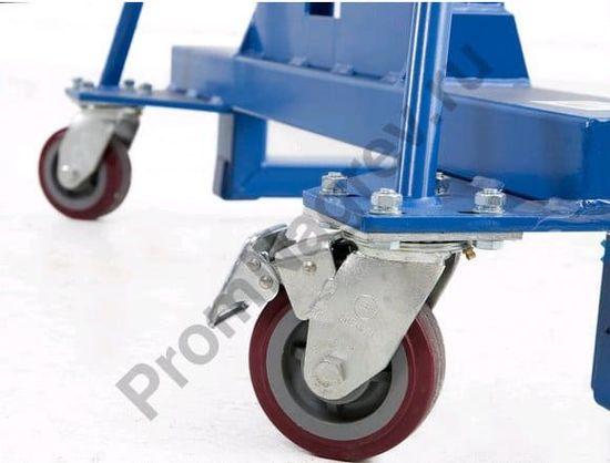 Универсальный подъёмник для бочек Servo FL 8-SK, грузоподъемность 300 кг, колёса с фиксатором