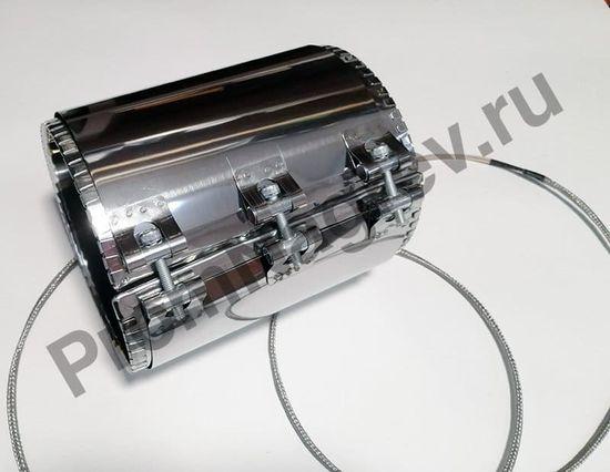 Нагреватель миканитовый кольцевой  100 x 190 мм, 750 Вт/ 230 В, термостойкий провод в метоплетке на малом коробе
