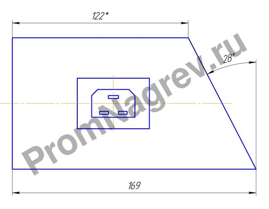 Кольцевой нагреватель миканитовый 1000 Вт/230 В, диаметр 85 мм, ширина 169 мм, эскиз
