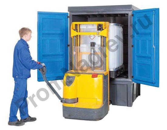Внутренняя высота склада рассчитана на безопасные и эффективные погрузки тары с помощью вилочного погрузчика или высокоподъёмной тележки