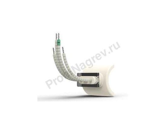 Промышленный ИК нагреватель керамический сферический вогнутый QCE 250 Вт, 60x55x41 мм с термопарой