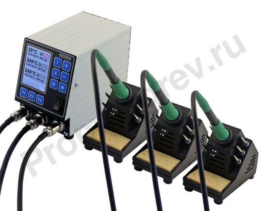 Интеллектуальная трехканальная паяльная станция НеоТерм-3С