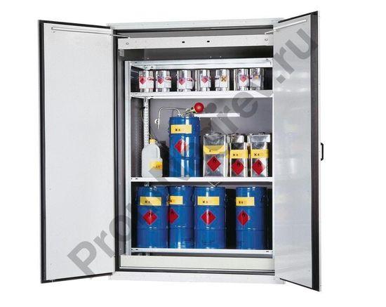 Огнеупорный шкаф для бочек VbF 90.2-K с полкой для хранения малогабаритной тары