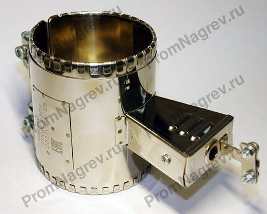 Хомутовый миканитовый нагревательный элемент, диаметр 86 мм, ширина 110 мм, подключение - клеммная колодка, закрытая коробом