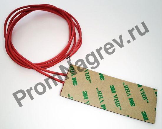 Плоский силиконовый нагревательный элемент 30x80 мм, 12 Вт/12 В