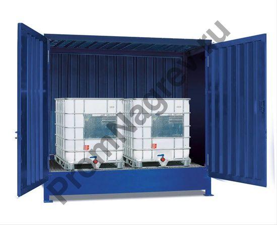 Контейнер-склад для опасных веществ под два еврокуба, SC-K