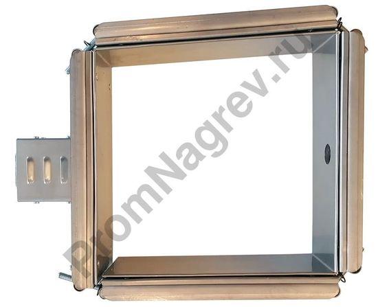 Миканитовый рамочный нагреватель из 4-х нагревательных элементов для фильеры экструдера, 1420 Вт, 230 В, 200 x 200 x 80 мм