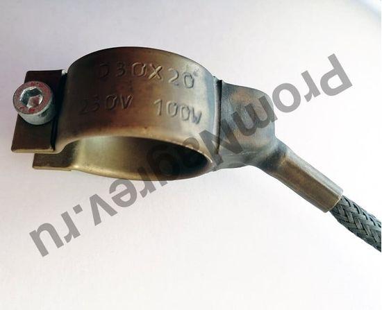 Сопловый нагреватель с корпусом из нержавеющей стали 30 x 20 мм, 100 Вт/ 230 В и проводом 1000 мм под углом 45 градусов