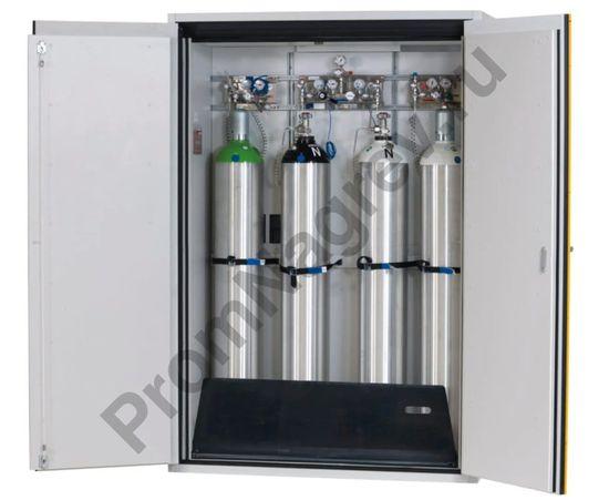 Огнестойкий шкаф для хранения газовых баллонов, шириной 1400 мм, двухстворчатая распашная дверь