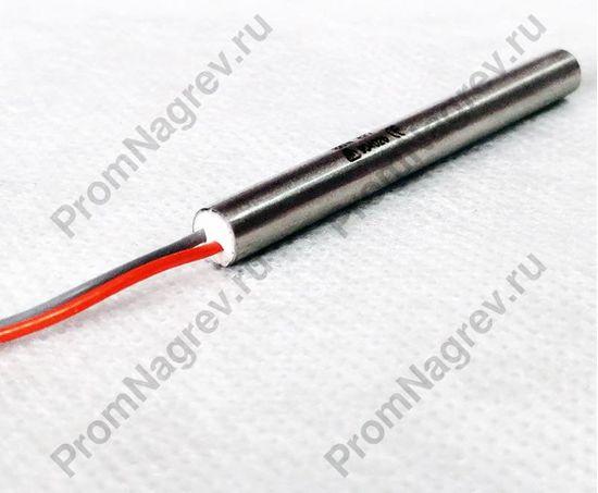 Пальчиковый ТЭН 6,5 x 60 мм, 100 Вт/42 В, силиконовые провода с внутренней заделкой