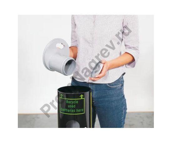 Емкость из кислотостойкого пластика для сбора аккумуляторов и батарей, объем 30 литров, смотровое окно