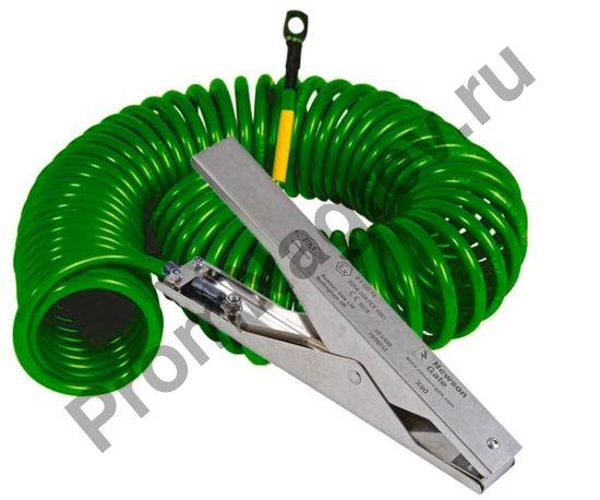 Заземляющий кабель спиральный с 1 клеммой заземления из нержавеющей стали Heavy Duty 235 мм и 1 кольцевой клеммой, ATEX