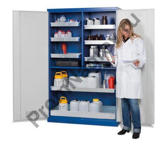 Smart шкаф для хранения химикатов с дверками-створками с 6 маленькими поддонами и одним большим, тип CS 126.