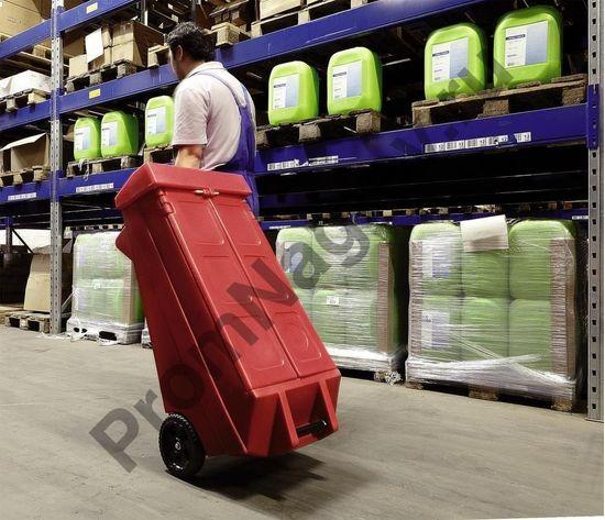 Перевозка удобного безопасного набора сорбентов на случай аварии в карсной тележке мобильной на колёсах в любых условиях.