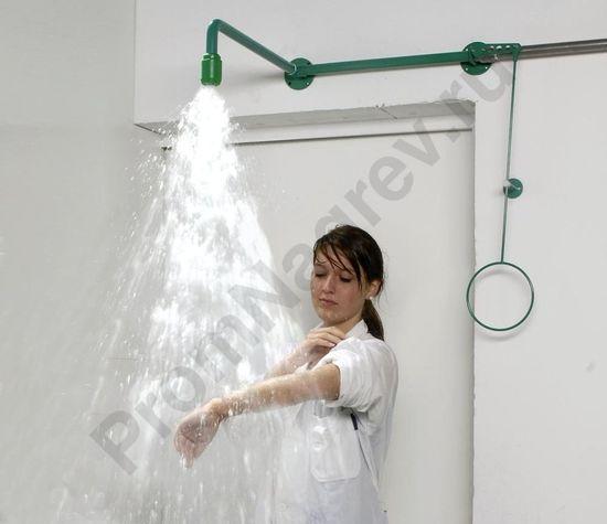 Аварийный душ для тела, зеленый, стальной, с защитным порошковым покрытием, монтируется над дверью, BR 084 085 / 75L